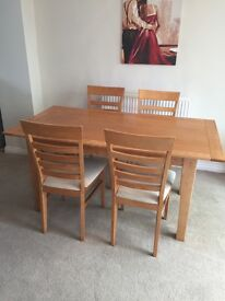 Marks and Spencer's table and 4 chairs - good condition