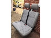 Volkswagen Transporter T5 T5.1 Double seat in Place fabric.