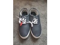 Brand new unworn men's size 14 navy shoes/ smart trainers.