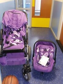 baby push chair and car seat nice and clean