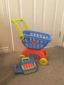 Chad Valley shopping trolley and cash register