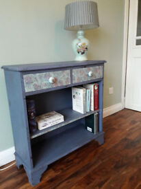 Upcycled Solid Wood Bookcase with Drawers