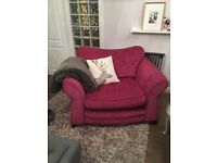 Pink sofa armchair love seat