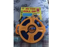 Brunner reel on 15m flat hose with sprayer- new