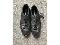 Black Leather Converse UK Size 6
