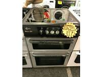 FLAVEL 60CM ELECTRIC DOUBLE OVEN COOKER IN SILVER