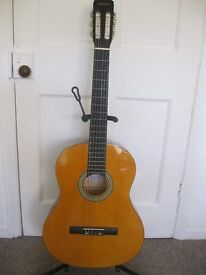 Clifton Acoustic Guitar With Case , Stand Clifton , Tuner and Music Book