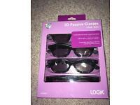 3D passive glasses logik NEW