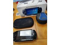 PSP 1001 games console and 10 games