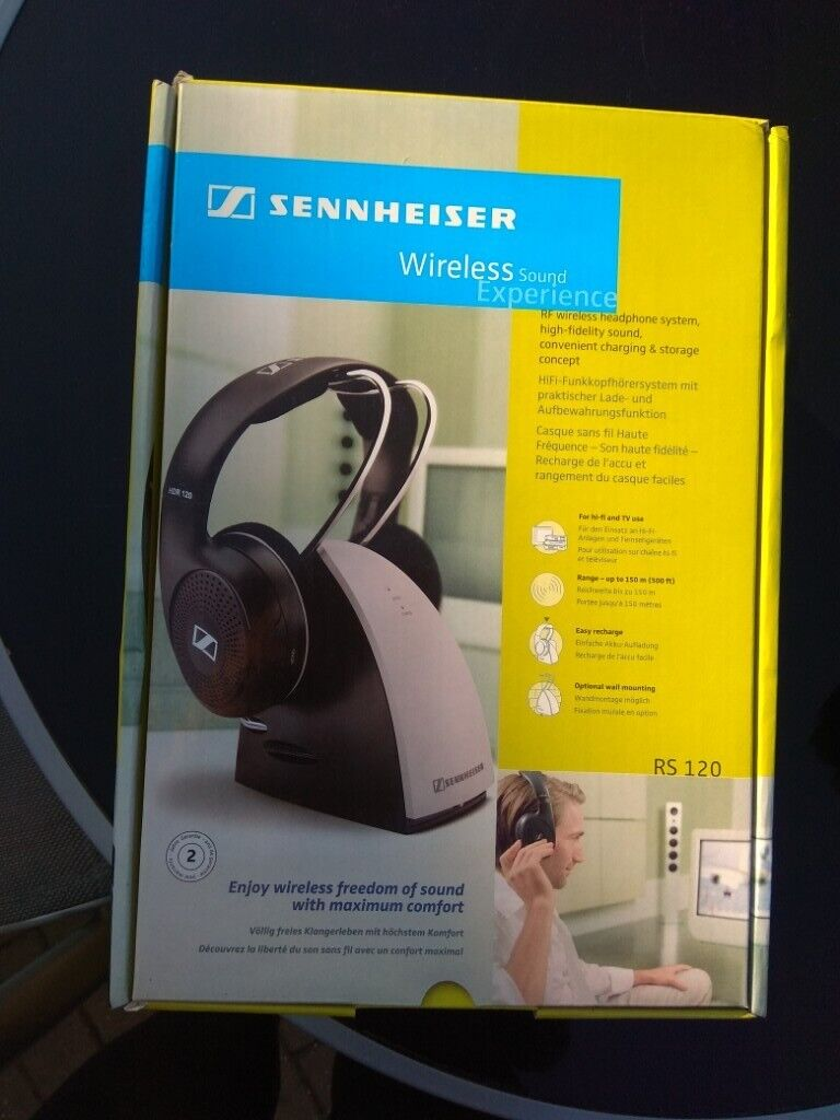 Sennheiser Rs120 Rf Wireless Headphones With Charging And Storage