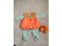 3-6 months pumpkin Halloween outfit