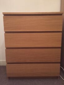 4 drawer Malm Chest of drawers