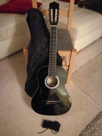 Ashton Australia Classical Guitar CG34BK Black 3/4 Size