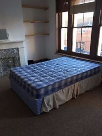 Double Divan Bed and Mattress - Good Condition