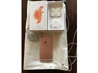 iPhone 6S Plus Rose Gold 64Gb 3 mth left of apple warranty Unlocked any network.... immaculate