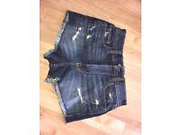 W23 Hollister high waist ripped vintage shorts- BNWT