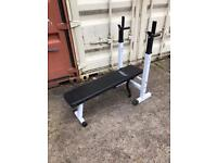 Folding weights bench dumbells bar weights and push up dip bars