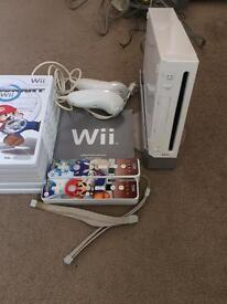 Wii console and approx. 20 games