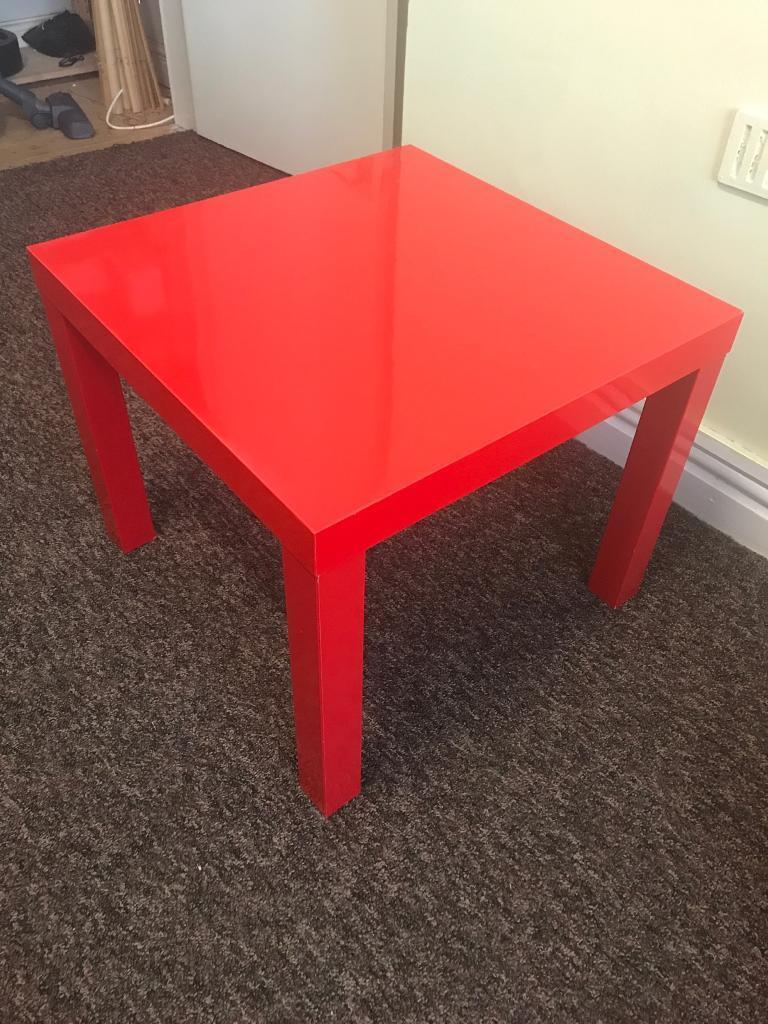 Ikea Small Coffee Table Red