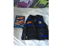 Nerf jacket and book