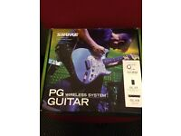 Shure PG Guitar Wireless System. Only used once! Still with a manufacturers warranty!