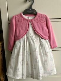 Baby girl dress and cardigan set - 6-9 months - Mothercare - new