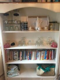 Book,cups shelfs