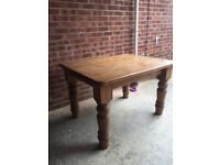 Antique Solid Pine Farmhouse Kitchen Table