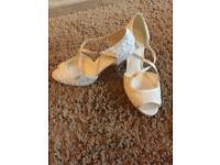 Phase Eight Ivory Lace Bridal Shoe (never worn - size 7) - £30