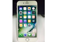 Apple iPhone 6 unlocked 16gb Silver Used Phone with some cosmetic wear at the back