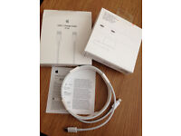 "GENUINE APPLE USB-C Charging Cable (2m) MJWT2FE/A TYPE C Model # A1646 For Macbook Light&Pro 13""/15"""