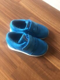 Toddler Addidas Blue trainers -size 6.5