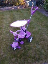 Kids 4 in 1 pink trike - little tikes - childrens - girls