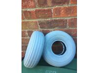 2x brand new tyres for motorbility scooter bargain