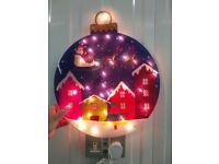 2x 45cm PVC Bauble Silhouetter Bulb