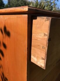 Antique 18th c Victorian pine chest of drawers