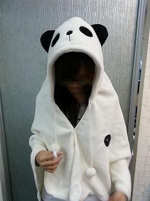 Cute Snow-white Panda Soft Comfortable plush Costume Cloak Shawl Cape Wrap-T12