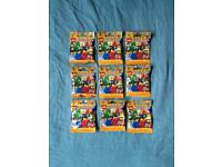 9x packs Lego Mini Figure- Series 18 (New & Sealed)