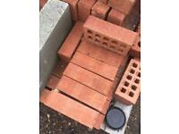 120 red facing bricks 65 mm