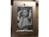 Christening gift phot frame