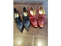2 pairs of designer shoes size 5