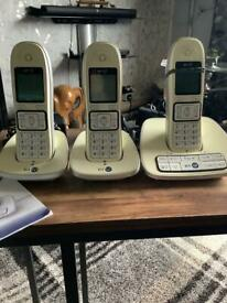 Bt trio of telephones