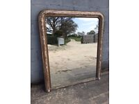 Beautiful, Antique French Gilt Mirror Overmantle