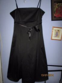 BLACK SILKY STRAPPY DRESS SIZE 14 BY WEST ONE GREAT FOR PARTY / PROM OR WEDDING