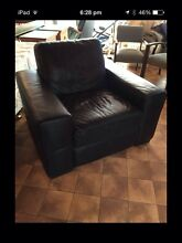 Black Italian leather Natuzzi arm chair North Narrabeen Pittwater Area Preview