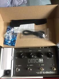 Tc electronic Ditto X4 ( loop station) guitar pedal