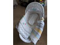 Moses Basket and Stand - very seldom used so in excellent condition