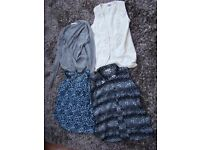 UK Ladies Size 8-10/teenager - 4 tops. VGC. £4. Torquay.