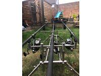 Fishing / carp /rods /bivy / barrow / bait / reels / tackle