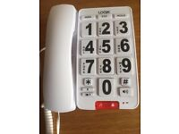 Logik LARGE BUTTON TELEPHONE - Very Good Condition / Brand New - £5.00 BARGAIN! Must Go as moving!